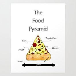 The Food Pyramid Art Print