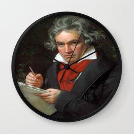 Joseph Karl Stieler - Portrait of Beethoven Wall Clock