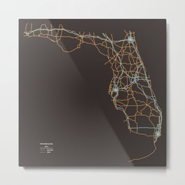 Florida Highways Metal Print
