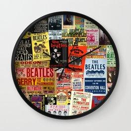 Vintage Rock Concert Posters Wall Clock