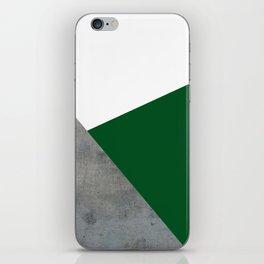 Concrete Festive Green White iPhone Skin