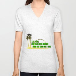 I LIKE POETRY, LONG WALKS ON THE BEACH AND POKING DEAD THINGS WITH A STICK Unisex V-Neck