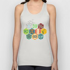 Math in color Unisex Tank Top