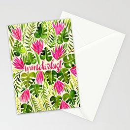 Tropical Wanderlust – Pink & Lime Stationery Cards