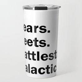 Bears Beets Battlestar Galactica Travel Mug