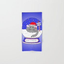 Chin-Chillin' Christmas Hand & Bath Towel