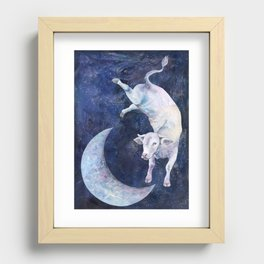 The Cow Jumped Over The Moon - II Recessed Framed Print