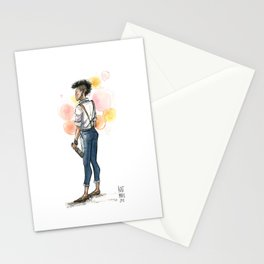 Androgypunk by Kat Mills Stationery Cards