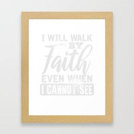 Christlicher Glauben FrauenGeschenk Framed Art Print