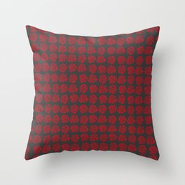 Roses pattern III Throw Pillow