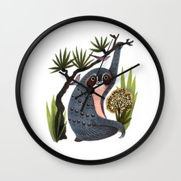 Sloth Friends Wall Clock