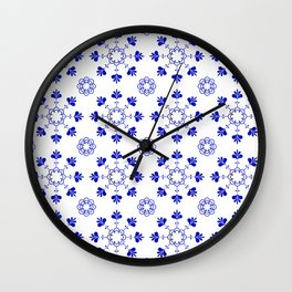 blue morrocan dream no2 Wall Clock