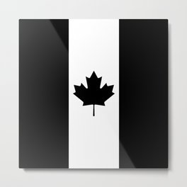 Canada: Black Military Flag Metal Print