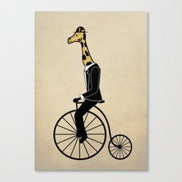 Penny Farthing Giraffe Canvas Print