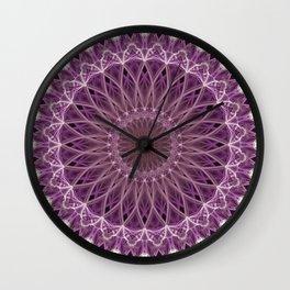 Pink and lilac mandala Wall Clock