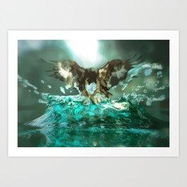 Hawk Illusion Art Print