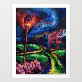 """The Crossroad"" Painting Art Print"