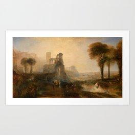 "J.M.W. Turner ""Caligula's Palace and Bridge"" Art Print"