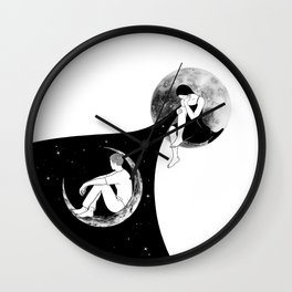 We'll never meet again (two moons) Wall Clock