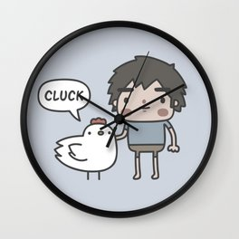 Me and my chicken friend Wall Clock