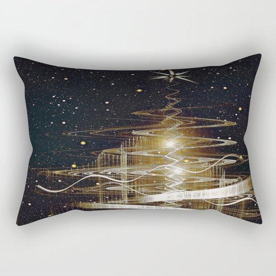 Christmas  Fractal Tree Rectangular Pillow