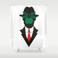 magritte Shower Curtains featuring René Magritte by Fen_A