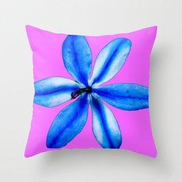 Little Blue Flower Throw Pillow