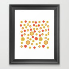 Circular Warm Texture Framed Art Print