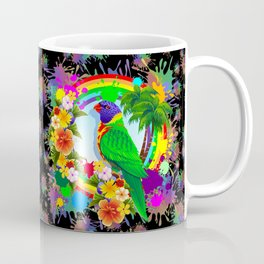 Rainbow Lorikeet Parrot Art Coffee Mug