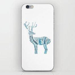 green deer watercolor iPhone Skin