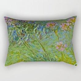 "Claude Monet ""Agapanthus Flowers"" Rectangular Pillow"