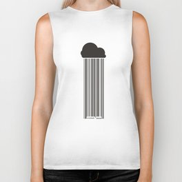 Barcode Rain Biker Tank