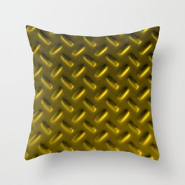 Dirty checkered gold plate Throw Pillow