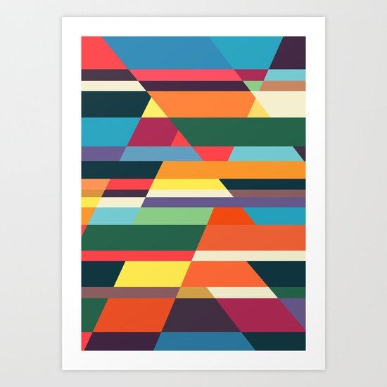 The hills run to infinity Art Print