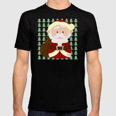 Santa Mens Fitted Tee Black SMALL