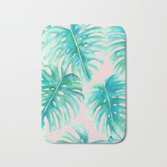 Paradise Palms Blush Bath Mat