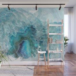 Blue Aqua Agate Wall Mural