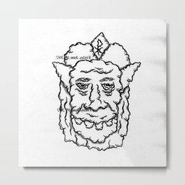 GRUMP FACE Metal Print