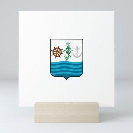 flag of San Pedro de Macoris, Dominican republic Mini Art Print