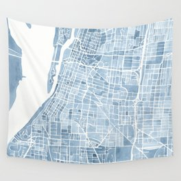 Memphis Tennessee blueprint watercolor map Wall Tapestry