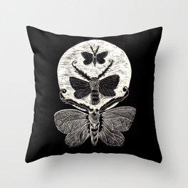 Lunar Moths Throw Pillow