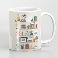 budi Mugs featuring The shelf by Picomodi