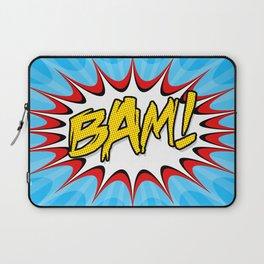 """""""BAM!"""" Pop Art Poster Laptop Sleeve"""