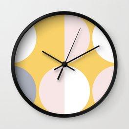 Mid Century Modern Moon & Sun Pattern 2 Wall Clock