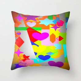 Love and Stars Throw Pillow