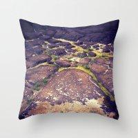 hawaii Throw Pillows featuring Hawaii by Slow Toast