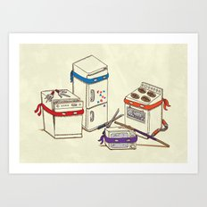 Teenage Mutant Ninja Kitchen Appliances Art Print