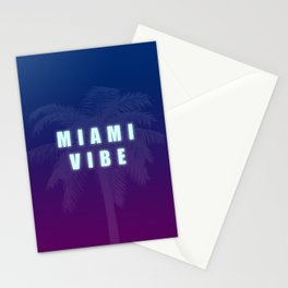 Miami Vibe Synthwave/New Retro 80's Inspired Stationery Cards