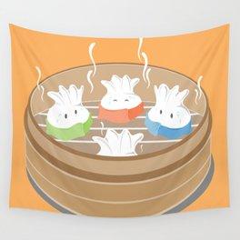 Steamy Dumplings Wall Tapestry