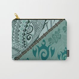 Hawaiian Tapa Cloth - Traditional Print Carry-All Pouch